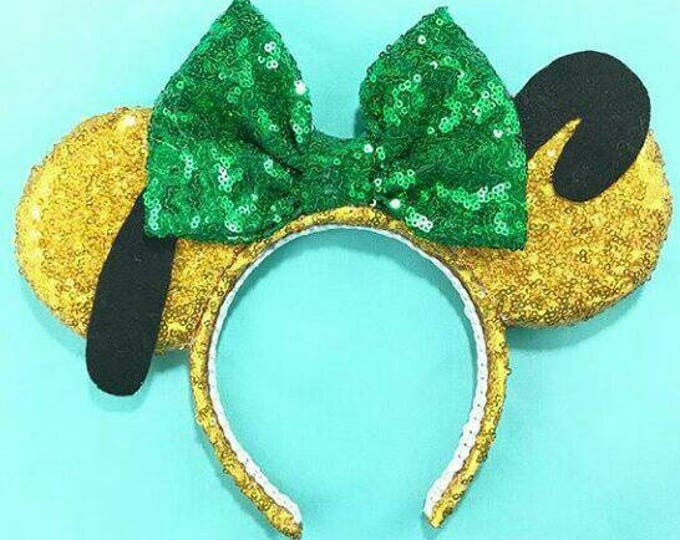 Pluto Mickey Mouse Minnie Sequin ears