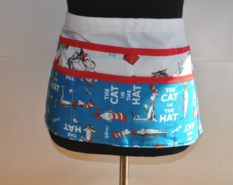 Cat in the Hat Teacher apron, Preschool Teacher apron, Dr. Seuss utility apron, Teacher apron, Kindergarten teacher apron, apron for teacher