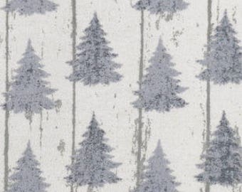 Snuggle Flannel Fabric - White Wash Pines - 30 inches