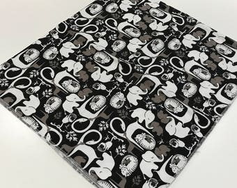 Monochrome Zoo Baby Boy Receiving Blanket - Oversized Single-Sided Flannel Baby Receiving Blanket - Swaddle Blanket - Baby Shower Gift
