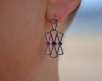 Bow earrings, Imperial earrings, bow stud earrings, silver bow earrings, simple earrings, daily earrings, dress earrings, history earrings