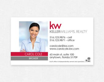 "Keller Williams real estate business card magnets - 2""x3.5""- FREE UPS ground shipping"