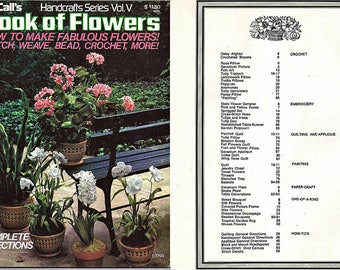McCall's Book of Flowers Craft Pattern Book Handcrafts Series Vol V No 14293