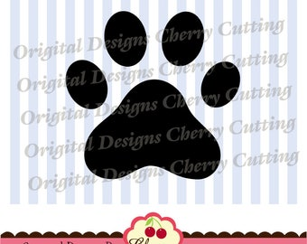 Paw print SVG DXF EPS Silhouette & Cricut Cut Files -Personal and Commercial Use  AN02