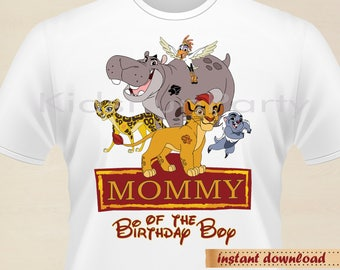 Lion Guard Mommy of the Birthday Boy - INSTANT DOWNLOAD -  Birthday Boy - Lion Guard Party Favors