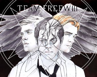 Supernatural Fine Art Print:  Team Free Will