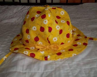 Sale 12-24 mos Reversible Girl's Sunhat, Toddler Sun Hat, Floppy Hat, 12-24months