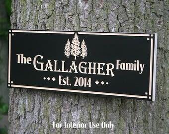 Family Name Sign, Custom Cabin Sign, Lakehouse Sign, Lake House Sign, Wooden Last Name Sign, Benchmark Custom Signs, Maple TE