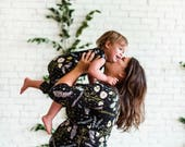 Floral Romper- Flower Print Romper- Baby Girl Romper- Organic Cotton- Toddler Romper- Baby Shower Gift- Organic Baby Clothes