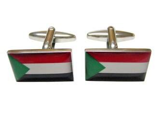 Sudan Flag Cufflinks