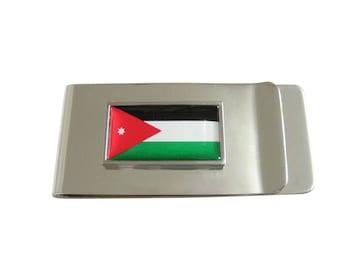 Thin Bordered Jordan Flag Money Clip