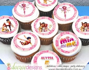 "Mia & Me Edible Icing Cupcake Toppers - 2"" - PRE-CUT - Sheet of 15 - EI082C"