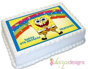 Spongebob Squarepants A4 Edible Icing Cake Topper - EI001A4