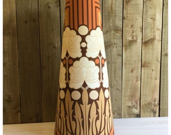 Handcrafted Vintage 60s 70s Style 88cm Tall Conical Lampshade Fat Lava