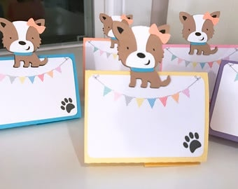 Puppy Food Labels, Puppy Party, Food Tents, Puppy Birthday Party, Dog Food Labels, Puppy Paw Labels, Write on Labels