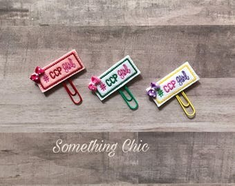 CCP Planner Clip/ Page Markers/ Bookmarks/  Page Keeper/ Planner Accessories/Party Favor