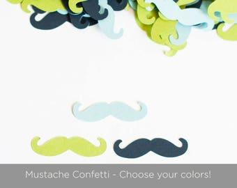 Little Man Birthday Party - Baby Boy Shower Decoration - Mustache Confetti - Choose Colors