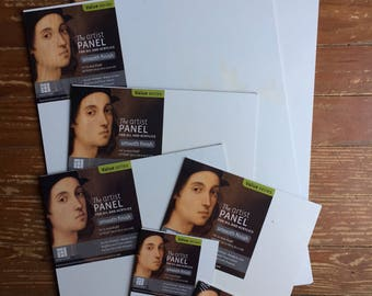 Set of Seven Art Board Panels | Various Sizes | Free US Shipping