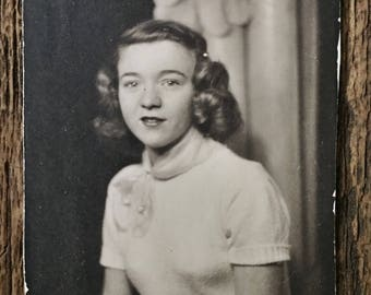 Original Vintage Photobooth Photograph Anna