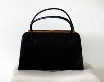 1950s Vintage Black Purse