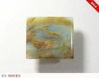 Peruvian Opal cabochon, 20x22x5.4 mm,designer cabochon, gemstone cabochons, flat back cabochons, natural stone cabochons (po1975)