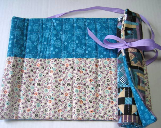 Patchwork Crochet Doubl Pointed Needle Organizer Rolls  - Set of 3