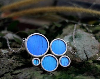 Real butterfly necklace Butterfly wing jewelry Blue Morpho Gift for women Taxidermy jewelry Butterfly Insect jewelry Butterfly gift ideas