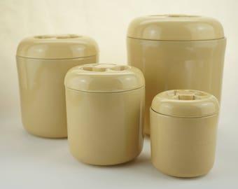 vintage kitchen canisters cookie jar robert stephen witkoff vintage beige kitchen storage canisters