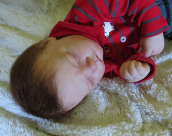 "Reborn Baby, ""Jamie"",  Reborn Baby Boy, Owen Asleep Kit, Reborn Doll, Ready to Ship"