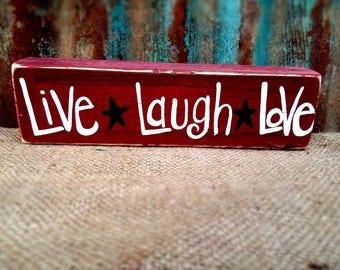 Live Laugh Love Block