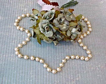 Pretty Little Faux Pearl Vintage Necklace by Marvella for Project