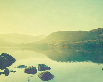 lake district photograph, photo print, landscape photo, whimsical fine art photography, lensbaby, british landscapes, uk nature print, decor