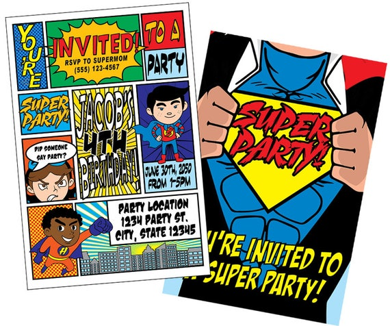 super hero birthday invitations super hero invitations superhero
