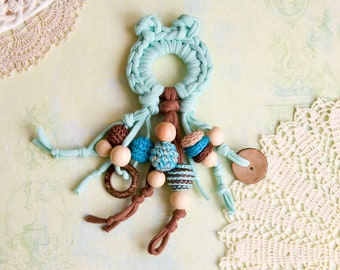 Teething toy - bear - crochet theether - PROMO PRICE!