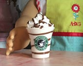 """Doll Drink - Fake Hot Fudge COFFEE Frappuccino Mini Smoothie 