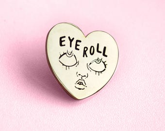 Eye Roll soft enamel lapel pin