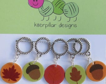 CLEARANCE Leaf Peeping - Snagless Stitch Markers