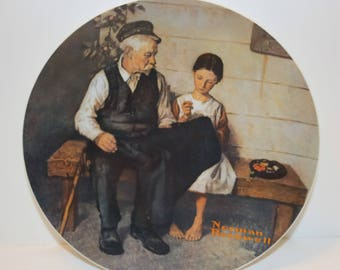 Norman Rockwell 1979 The Lighthouse Keeper's Daughter Collectible Plate Knowles