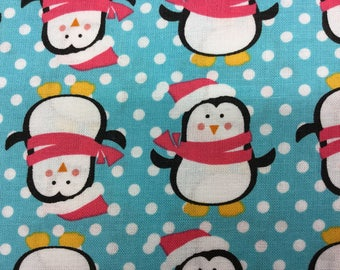 Fabric - Fabric Freedom - Christmas Characters Penguins