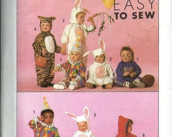 big sale babies and toddlers costumes simplicity 0612 easy to sew halloween costume pattern - Baby Halloween Costume Patterns