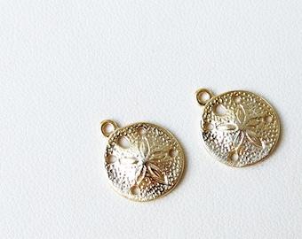 14K gold vermeil sand dollar charm