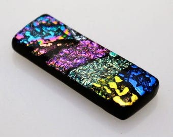 Dichroic Cabochon, Rectangle Cabochon, Vibrant Cabochon, Dichroic Tile, Tile for Mosaic, Decorative Tile