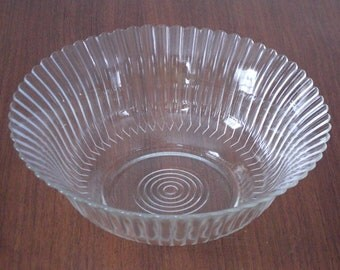 Mac-Beth Evans Crystal Petalware Serving Bowl