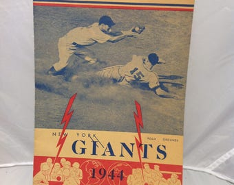 1944 New York giants official program and score card