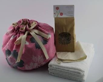 OOAK Vingate Kimono Cotton Lotus Birth Kit - Lined