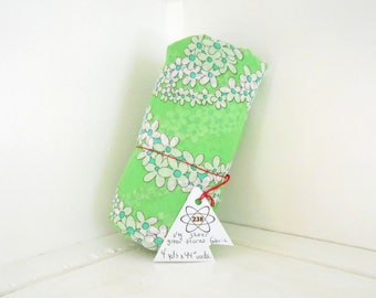 Vintage Sheer Green Floral Fabric / Home Accents / 4 YARDS