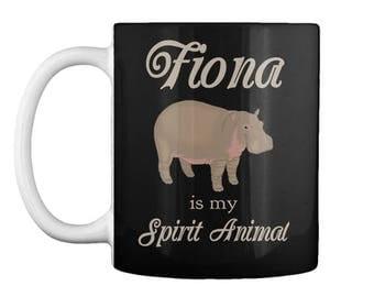 Fiona is My Spirit Animal Coffee Mug - Color Options Hippo Hippopotamus Cincinatti Zoo Co-Worker Office Gift Tea Cup Drinkware Birthday