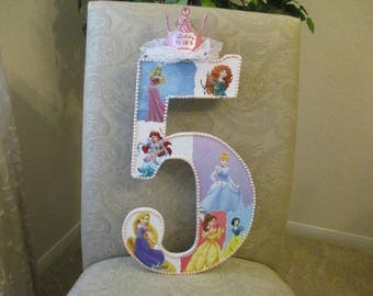 "DISNEY PRINCESSES theme number - 25.99 per number, 18"" tall, birthday party decorations and for monthly or yearly birthday pictures"