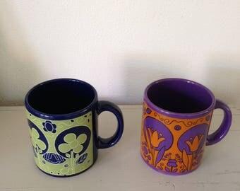 Vintage West germany Waechtersbach mugs