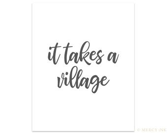 It Takes A Village // Minimal Print Bible // Community & Adoption